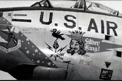 Silver King nose art